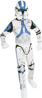 Clone Trooper Costume Boys Fancy Dress Kids Child Star Wars Licensed